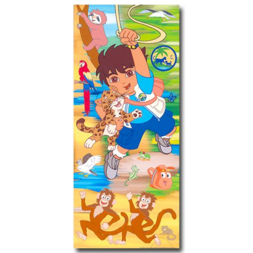 GO DIEGO kids Jumbo WALL PAPER APPLIQUES wallpaper ()