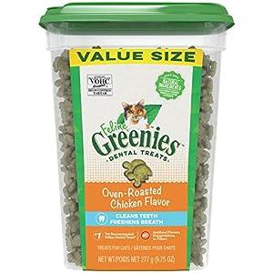Greenies Feline Natural Dental Care Cat Treats, Chicken Flavor, All Bag Sizes