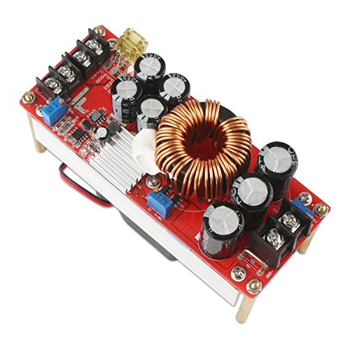 Boost Voltage Converter, DROK 1500W Voltage Regulator Booster DC 10V-60V 12V Step Up to DC 12V-90V 24V 30A Power Supply Module High Power Volt Transformer Circuit Board with Cooling Fan by DROK (Image #5)