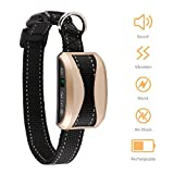 #4: Bark Collar-2018 Upgrade-Dog Bark Collar with Beep, Vibration and No Harm Shock, Rechargeable Humane Anti-Bark Collar, No Bark Collar with 7 sensitivity levels for Different Sizes Dogs