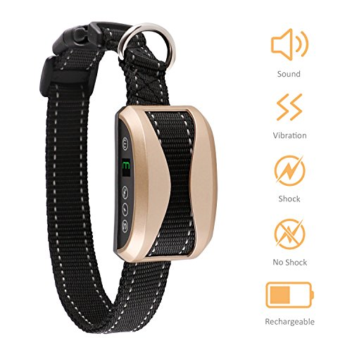 Bark Collar-2018 Upgrade-Dog Bark Collar with Beep, Vibration and No Harm Shock, Rechargeable Humane Anti-Bark Collar, No Bark Collar with 7 sensitivity levels for Different Sizes Dogs
