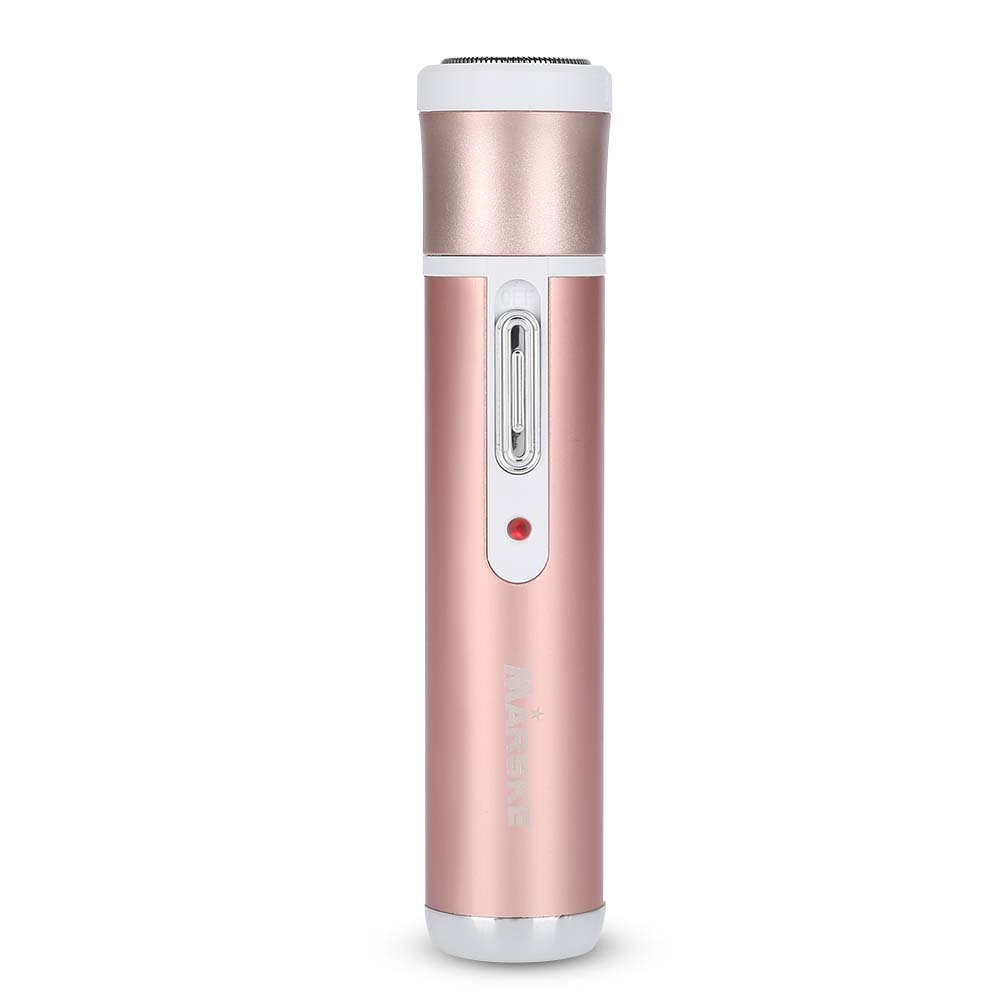 Electric Trimmer kit, 4 in 1 Painless Epilator Hair Removal for Women with Rotary Shave Head, Eyebrow, Nose, Face, Underarm, Bikini Shaver Grooming Razor (Rose Gold)
