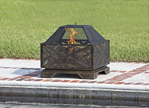 Fire Sense Catalano Square Fire Pit Antique bronze 62239