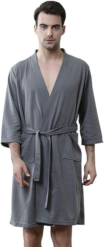 Rojeam Peignoir de Bain pour Homme Absorbant et Confort