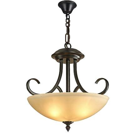 Lámpara colgante de cristal LED Creativo Redondo Retro ...