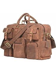 Leaderachi Hunter Leather Handmade Unisex Messenger Briefcase Bag [ROME (MUSKAT)]