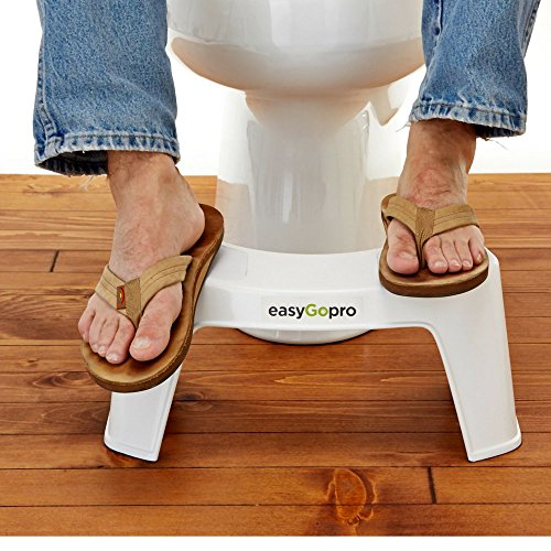 30%OFF easyGopro 7.5 Most Ergonomic Toilet Stool for Better Bowel Movements Gastroenterologist Recommended for All Ages -One Size Fits All Toilets - White