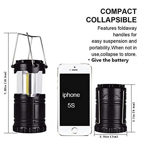 2 x Farol de Camping LED - ¡Tecnología COB LED, 300 LÚMENES ...