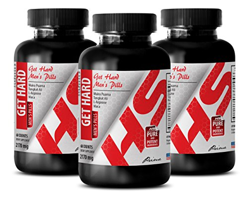 energy booster - GET HARD - MENS PILLS - l-arginine fitness - 3 Bottles (180 Capsules) by Healthy Supplements LLC (Image #7)