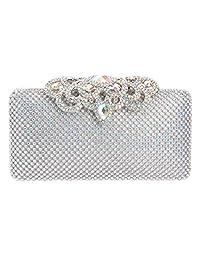 Fawziya Big Crown Clasp Handbag Bridal Bridesmaid Clutch Bag