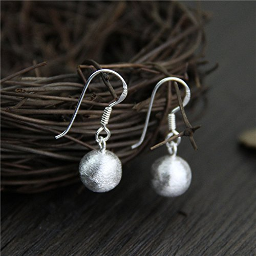 Handmade Vintage 925 Sterling Silver Ball Earrings With Box Packing- Karen Hill Tribe Silver Earrings,Gift For Her