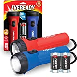 EVEREADY LED Flashlight Multi-Pack, High Lumens Flash Light, Perfect Flashlights For Camping Accessories, Hurricane Supplies, Survival Kits, Safe Flashlights For Kids, Batteries Included