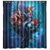 "Welcome!Waterproof Decorative Vintage Vintage Mermaid Art Shower Curtain 66""*72""-25"