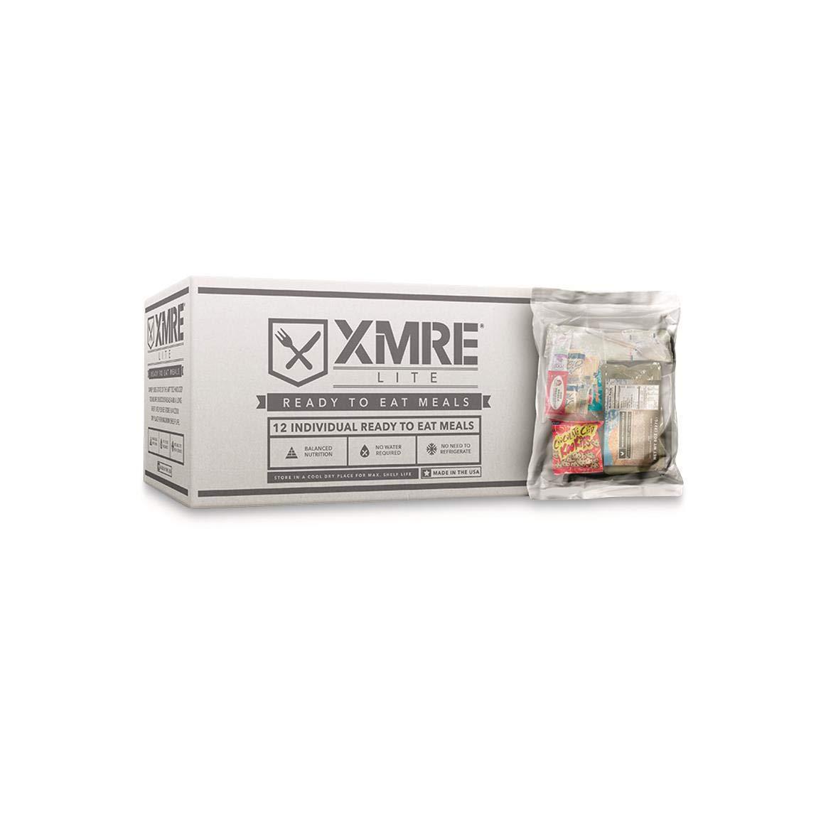XMRE LITE MRE Food Supply, 12 Meals