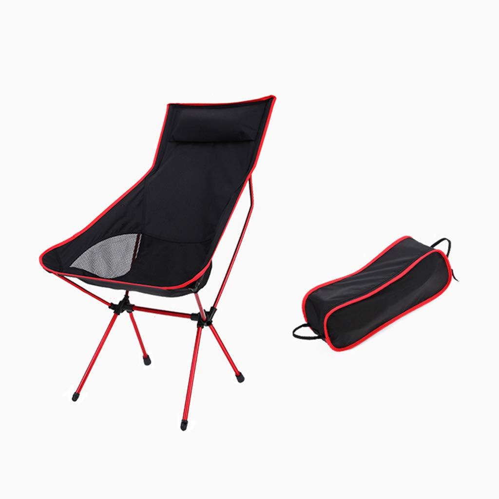 GCHF Im Freien Langer Mond-Stuhl-Recliner-Klappstuhl-tragbarer Fischen-Stuhl-Direktor Chair Aluminium mit Kissen