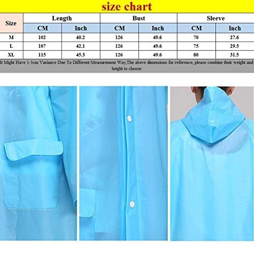 Delanteros Adulto Ropa Sólido Color Azul Unisex Bolsillos Basic Poncho De Fashion Con Impermeable Hx Capucha qzUwBHI