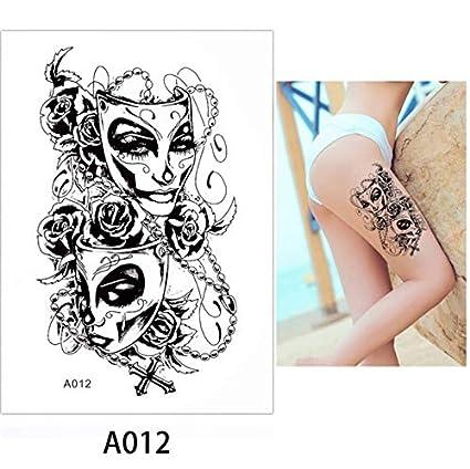 Tatuajes Temporales Mujer Acuarela Belleza Mujeres Maquillaje ...