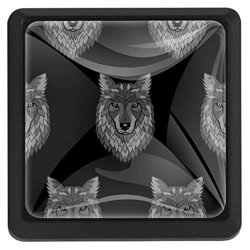 wolf door knob - 1
