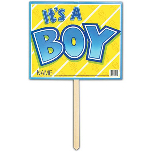It's A Boy Yard Sign Party Accessory (1 count) -