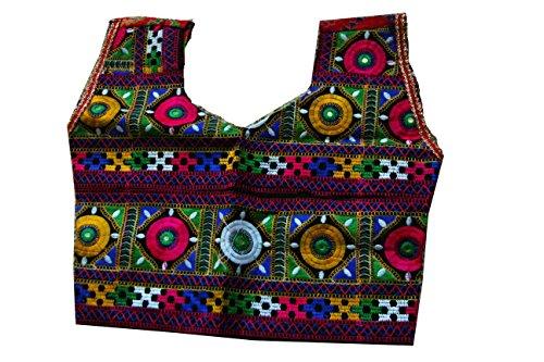 Samudrika Designer Embroidered Garba Lehenga Chaniya Choli Cotton Red Size 8 Years