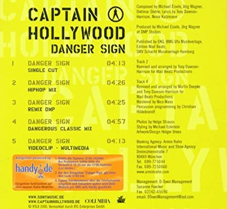 Captain Hollywood Danger Sign Amazon Music