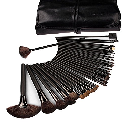 Eco Friendly Flat Lid (eBoTrade 32 Pcs Rod Makeup Brush Cosmetic Set Kit)