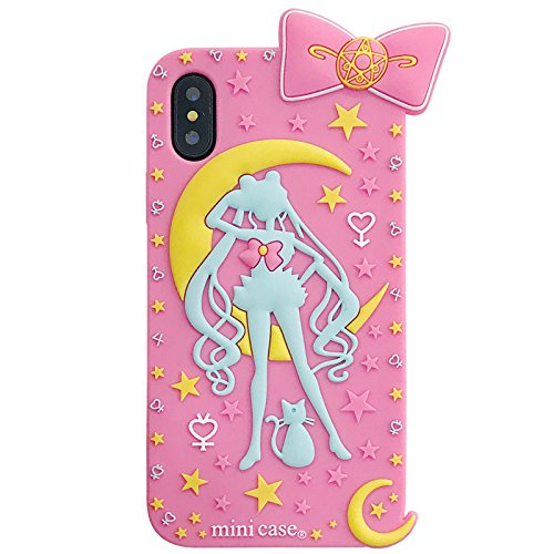 new style 795e4 7375b Amazon.com: Soft Silicone Pink Sailor Moon Luna Cat Case for iPhone ...