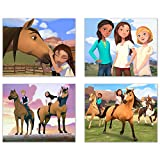 Crystal Spirit Riding Free Prints - Set of 4 8x10 Poster Prints Wall Art Decor - Fortuna (Lucky) - Abigail - Prudence - Julien - Spirit - Chica Linda - Boomerang