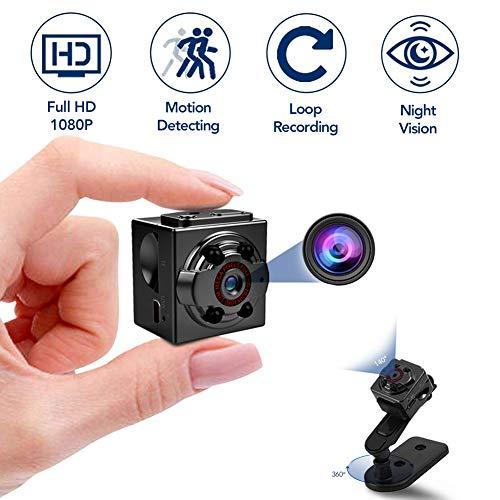 Hidden Mini Spy Camera, 1080P Full HD Nanny Cam, Night Vision & Motion Activation for Indoor Outdoor Portable Secret Surveillance Covert Security Small Camera