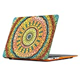 Macbook Air 11 Inch Case, iCasso Macbook Case Hard Shell Protective Plastic Case Cover For Apple Macbook Case Air 11 Inch Model A1370/A1465 - Orange Mandala