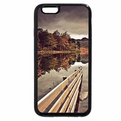iPhone 6S / iPhone 6 Case (Black) wooden fence in a beautiful lake