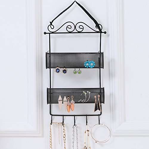 Hanging Scrollwork Earring Necklace Organizer