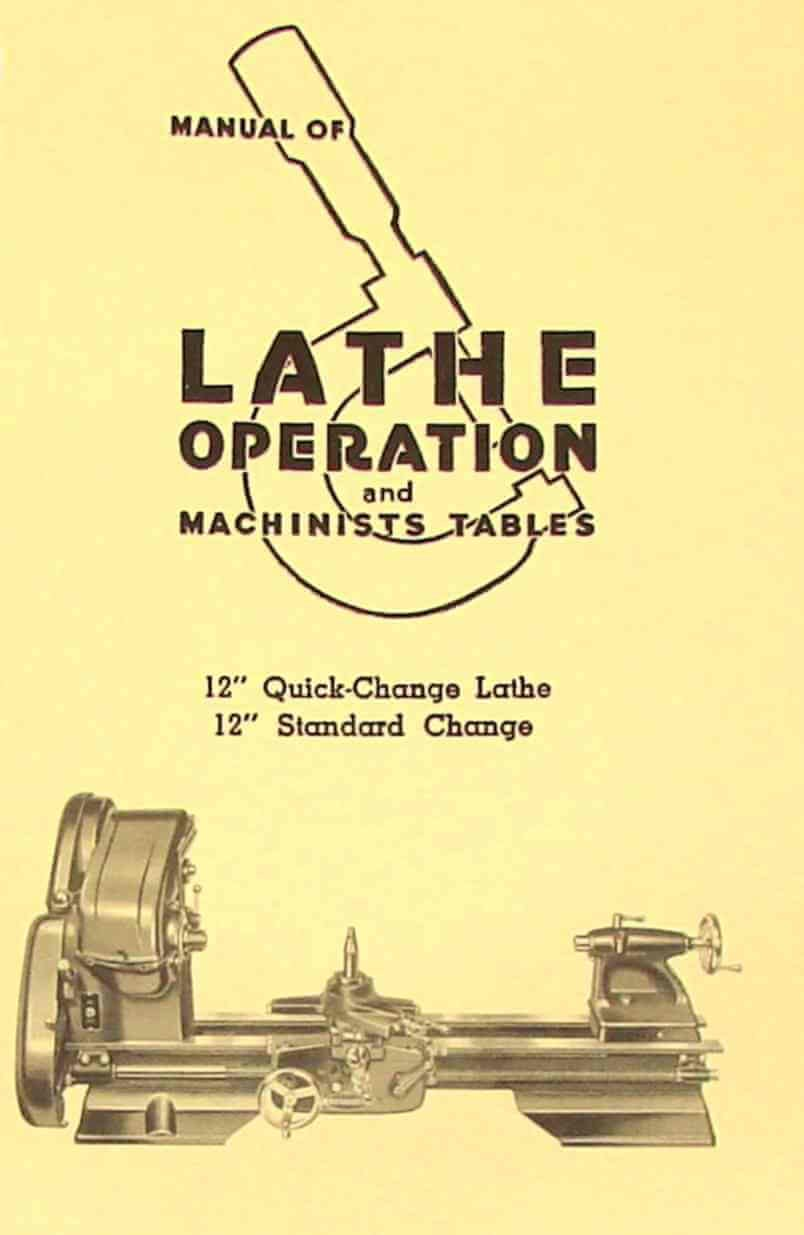 "Atlas Craftsman Manual of Lathe Operation Book for 12"" Older Style: Misc.:  Amazon.com: Books"