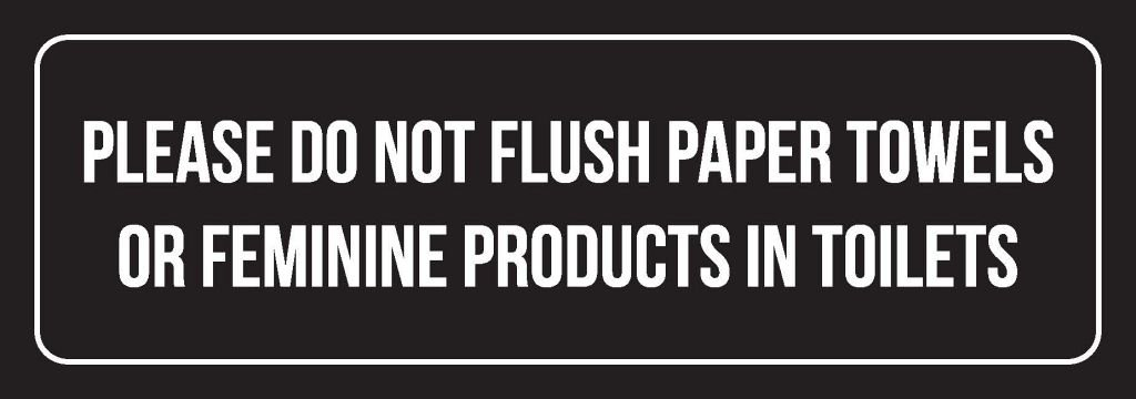 Please Do Not Flush Paper TowelsまたはFeminine製品でトイレメタル壁記号( 3 x 9 ツイン 3x9-021-Metal-Single  B079R9VH6M