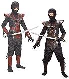 ninja armor costume - Fun World Leather Ninja Brown Costume, Medium 8-10, Multicolor