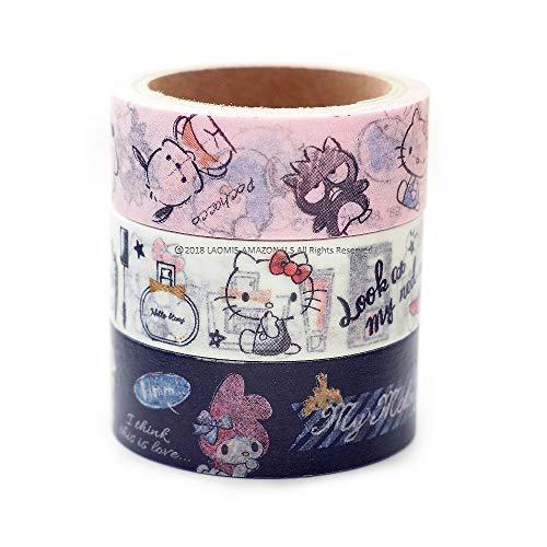 Japanese Sanrio Hello Kitty My Melody Masking Washi Tape/Set of 3 [ 06897 ]