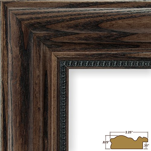 Craig Frames 15177483150 22 by 28-Inch Picture Frame, Solid Wood, 2.25-Inch Wide, Dark - Dark Walnut Wood
