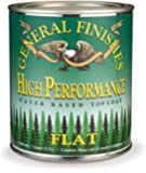 General Finishes QTHF High Performance Water Based Topcoat, 1 Quart, Flat