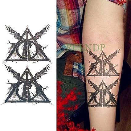 HXMAN 3 Unids Impermeable Tatuaje Temporal Pegatina Fresco Águila ...