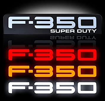 08 – 10 Ford F350 iluminado emblemas 2 piezas Kit incluye conductor y pasajero lateral Fender