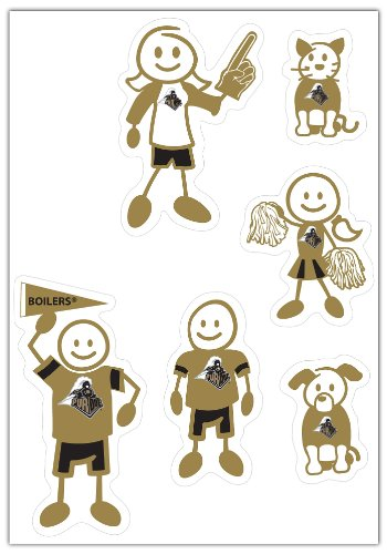 - Siskiyou NCAA Purdue Boilermakers Small Family Decal Set