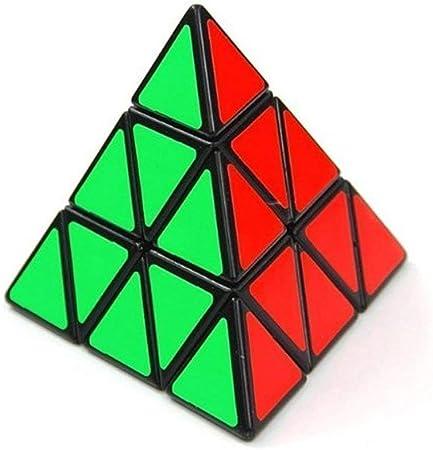 ShengShou Triangle Pyramid Pyraminx Speed Magic Cube Puzzle Twist Toy Game Education (Black)