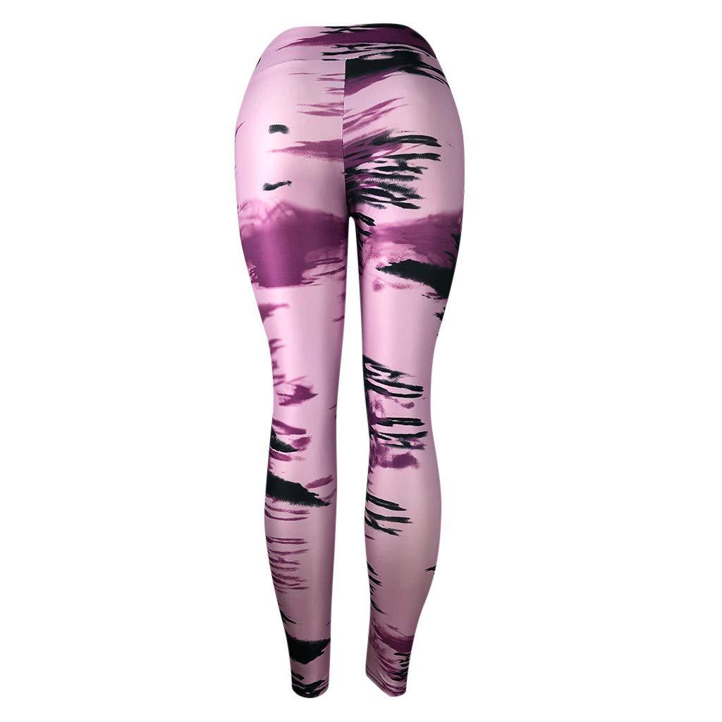 Purple,L US Waist?27.5-31.5 NUWFOR Womens Fashion Workout Leggings Fitness Sports Gym Running Yoga Athletic Pants