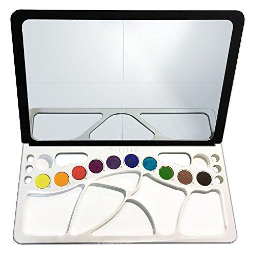透かして、なぞって、絵が描ける! w-lette ダブレット 絵具10色入り   B01N26NGWR