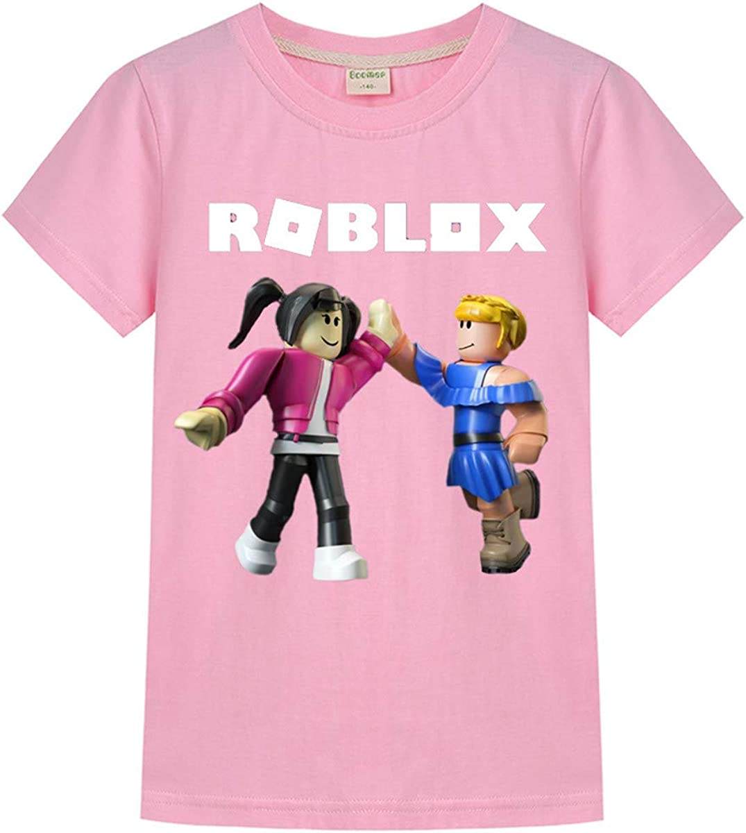 GD-Clothes Roblox Cartoon Cotton T-Shirts Roblox Summer Short Sleeves Shirts for Boys
