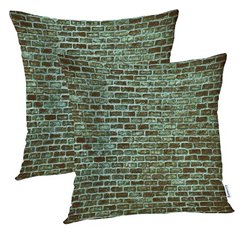 Batmerry Teal Pillow Covers 18x18 Inch Set of 2, Teal Bumpy Texture Double Sided Square Pillow Cases Pillowcase Sofa Cushion