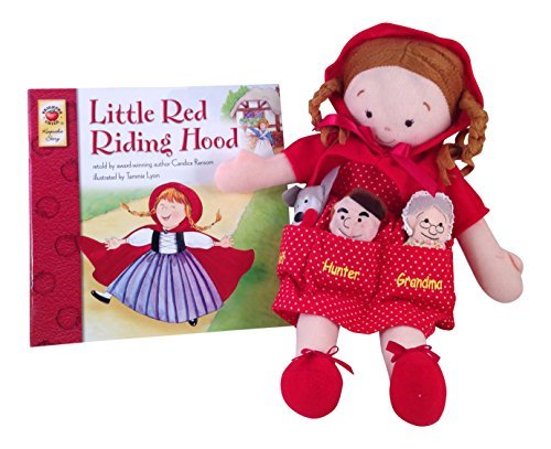 [Bundle-2 items: Dolly Pockets Little Red Riding Hood with Story Book] (Big Bad Wolf Outfit)