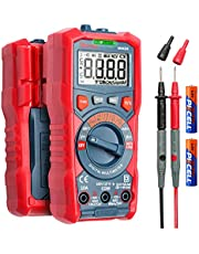 AstroAI Multimeter Tester, TRMS 4000 Counts Volt Meter Manual and Digital Auto Ranging; Measures Voltage, Current, Resistance, Capacitance, Frequency; Tests Live Wire, Diodes, Continuity,gift for men(TRMS 4000 Counts)