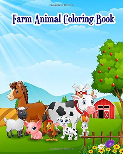 (Farm Animal Coloring Book: Children's Farm Animal Books: Cute Barnyard Coloring Book for Children: Easy & Educational Coloring Book (Kindergarten Coloring Books))