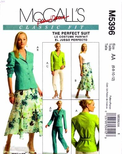 MCCALLS MISSES TOTAL OUTFIT PANTS BLAZER SEWING PATTERN SZ 6 TO 12